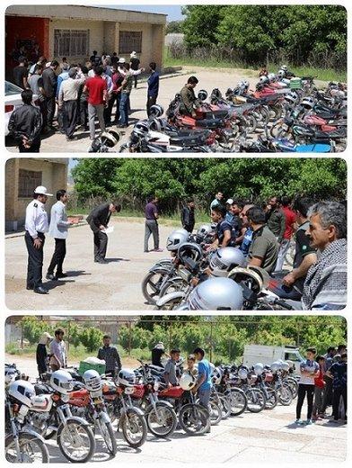 همایش ارتقاء ایمنی راکبان موتورسیکلت در روستای ایمانآباد ازنا