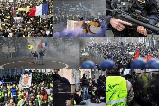 بیستوهشتمین هفته از تظاهرات جلیقهزردها چگونه برگزار شد؟