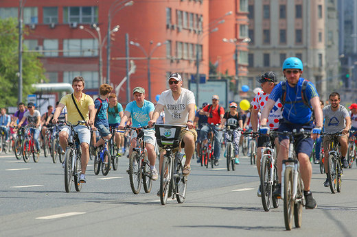 فیلم |  جشنوراه دوچرخهسواری مسکو با 40 هزار شرکت کننده