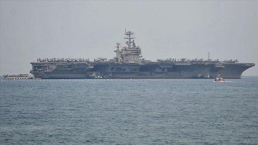 ناو جنگی آمریکا از ترس وارد آبهای خلیج فارس نشد