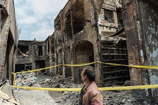 پاکسازی بازار تاریخی تبریز از خسارات آتشسوزی