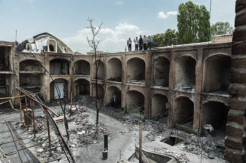 تصاویر   وضعیت بازار تاریخی تبریز دو هفته پس از آتشسوزی