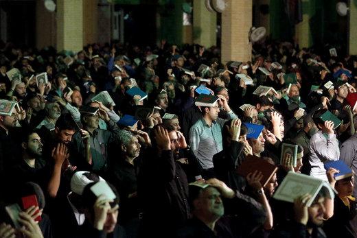 مراسم احیای شب بیست و یکم ماه رمضان در مصلی امام خمینی(ره) کرج