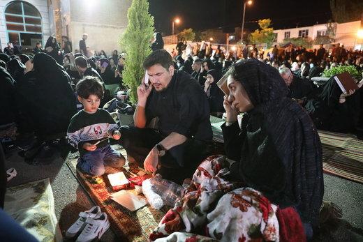 مراسم احیای شب بیست و یکم ماه رمضان در  آستان مقدس امامزاده سید ابراهیم(ع) زنجان