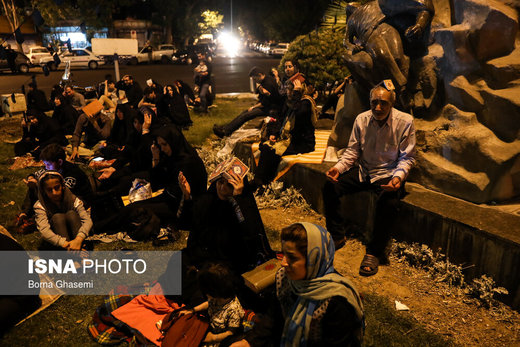 مراسم احیای شب بیست و یکم ماه رمضان در میدان فلسطین