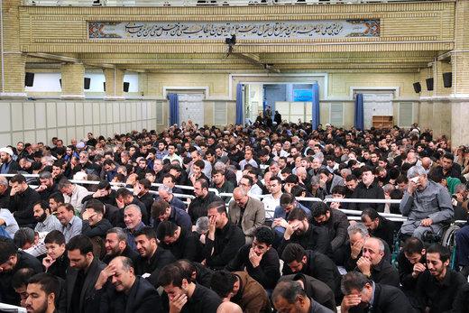 مراسم سوگواری شهادت حضرت امیرالمؤمنین علیهالسلام  با حضور رهبر معظم انقلاب اسلامی