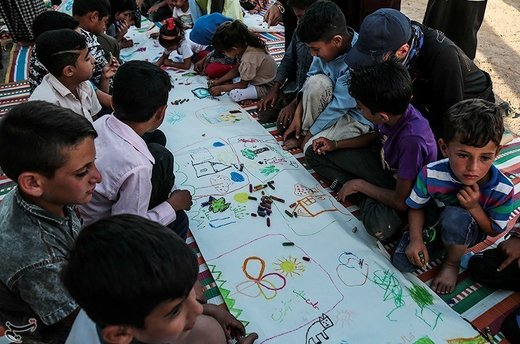 اردوگاه سیلزدگان یادمان ثامنالائمه در شهرستان حمیدیه خوزستان