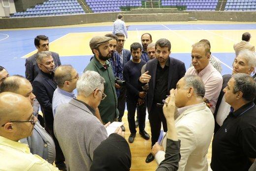 بازدید مسئولین فدراسیون والیبال از سالن غدیر ارومیه