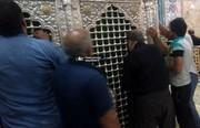 عکس | محمدعلی نجفی در حرم حضرت معصومه(س) پس از ارتکاب قتل