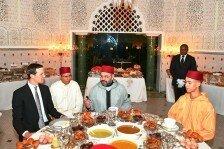 کوشنر در ضیافت افطار پادشاه مراکش