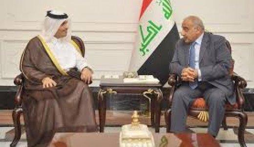 نخستوزیر عراق با امیر قطر دیدار کرد
