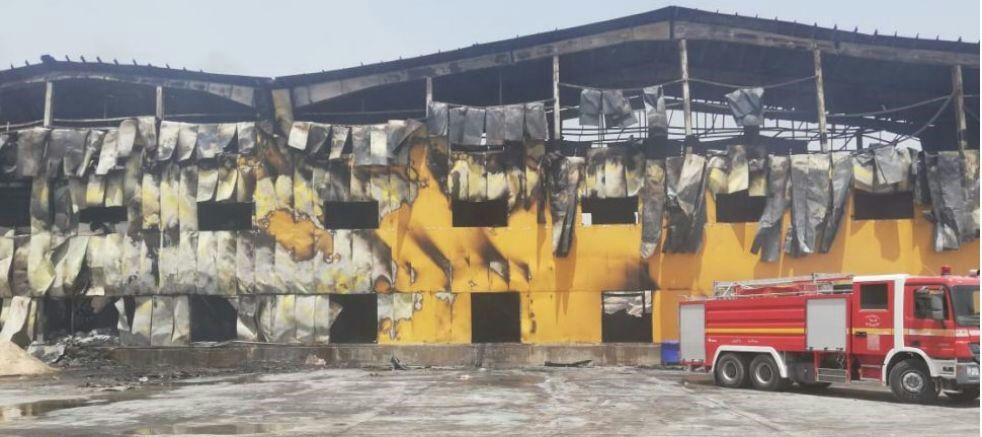 آتشسوزی کارخانه کاله عراق