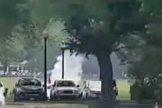 فیلم | مردی جلوی کاخ سفید خود را به آتش کشید