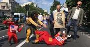 تصاویر | از دستگیری شیطان بزرگ تا حضور ترامپ و نتانیاهو در راهپیمایی روز قدس