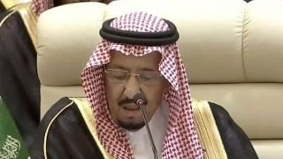 شاهد: الملك السعودي يحرض القمة الاسلامية ضد ايران