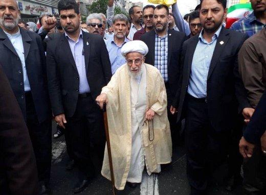 آیت الله جنتی در راهپیمایی روز قدس  در تهران