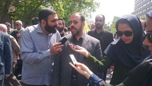 امیری معاون پارلمانی رئیس جمهور در راهپیمایی روز قدس