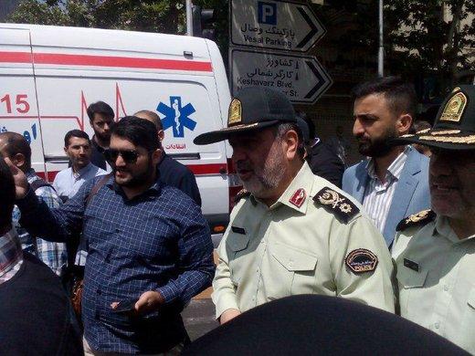 سردار اشتری، فرمانده نیروی انتظامی در راهپیمایی روز قدس