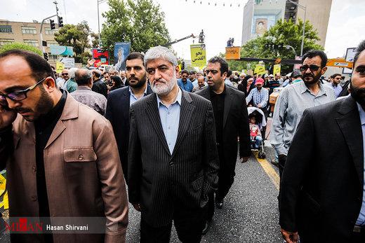حضور مسئولین نظام در راهپیمایی روز جهانی قدس