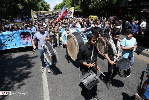 راهپیمایی روز جهانی قدس در آذربایجان شرقی