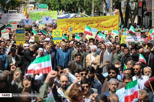 راهپیمایی روز جهانی قدس در زنجان