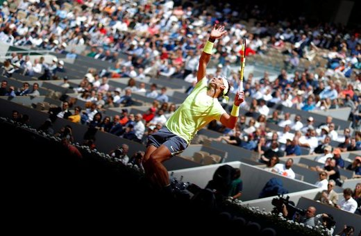 عملکرد رافائل نادال، تنیسور اسپانیایی در مقابل  یانیک هانفمن آلمانی در دور اول مسابقات