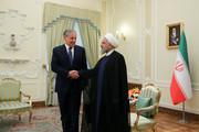 تصاویر | دیدار صمیمانه وزیر امور خارجه تاجیکستان با رئیسجمهور روحانی