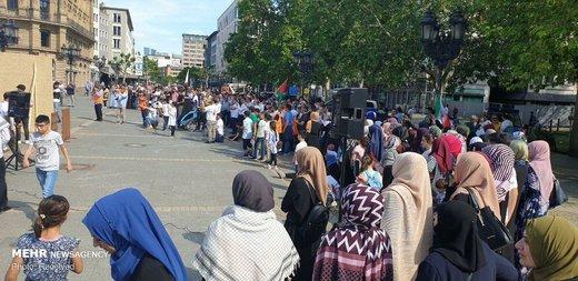 راهپیمایی روز قدس در فرانکفورت آلمان