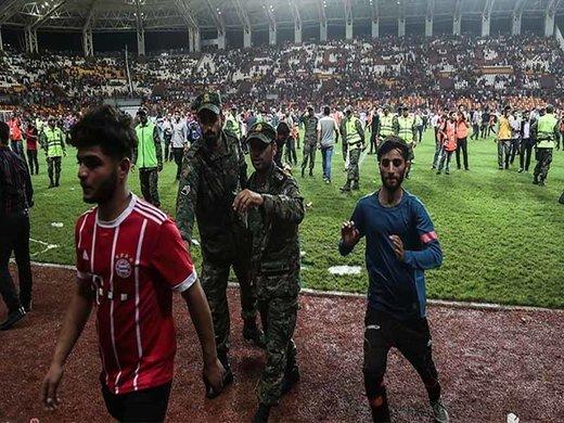 حاشیه بازی تیم پرسپولیس با تیم داماش در اهواز