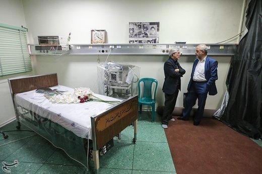 تخت بستری امام خمینی(ره) در بیمارستان قلب جماران
