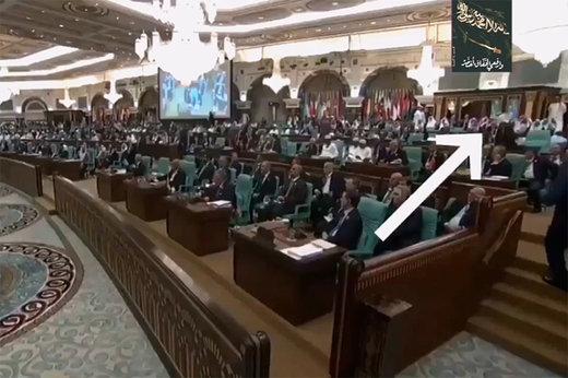 فیلم | خروج مقامات قطر از نشست سران عرب بهخاطر توهین به ایران