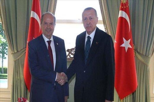 اردوغان با نخستوزیر قبرس شمالی دیدار کرد