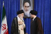 ۲ تصویر متفاوت از رهبر انقلاب و سیدحسن خمینی