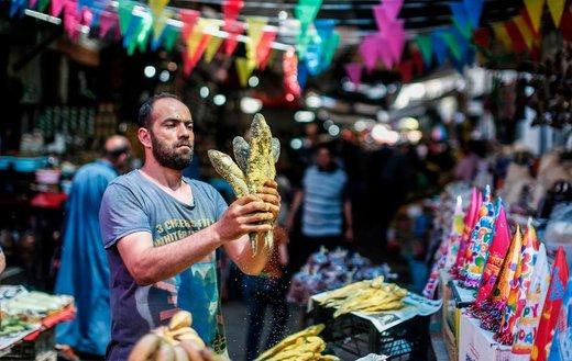 بازار عید فطر در شهر غزه فلسطین