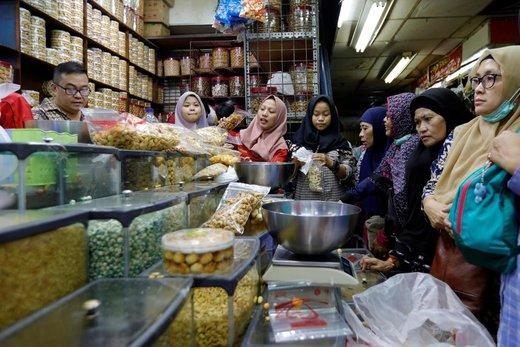 بازار عید فطر در شهر جاکارتا اندونزی