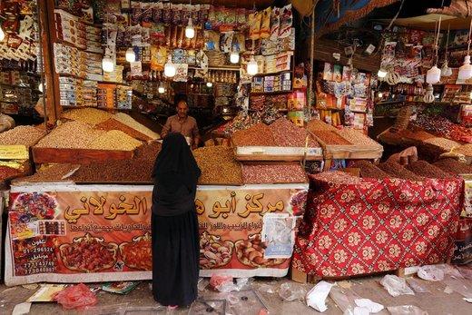 بازار عید فطر در شهر صنعا یمن