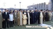 عکس| کدام چهرههای سیاسی نماز عید فطر را به رهبری اقتدا کردند؟