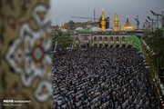 تصاویر | نماز عید فطر در بینالحرمین و حرم علوی
