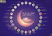 اینفوگرافیک | کدام کشورها بیشترین تعطیلات عید فطر را دارند؟