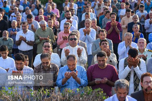 اقامه نماز عید فطر در آبادان