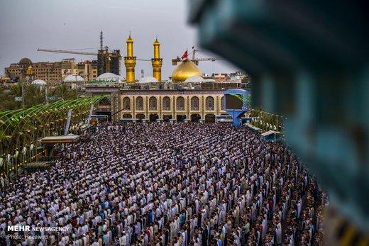 اقامه نماز عید سعید فطر در بینالحرمین