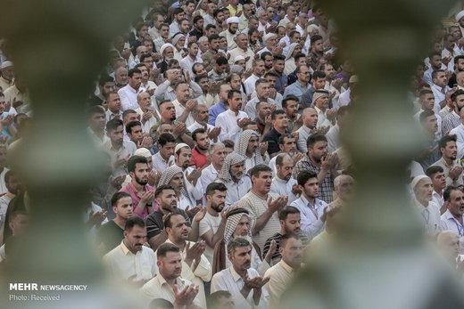 اقامه نماز عید سعید فطر در حرم علوی(ع)