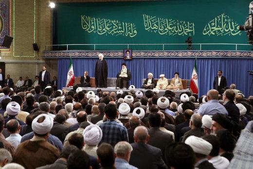 دیدار مسئولان، سفرای کشورهای اسلامی و جمعی از اقشار مختلف مردم  با رهبر معظم انقلاب اسلامی