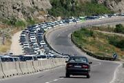 ترافیک بازگشت از چالوس سنگین است