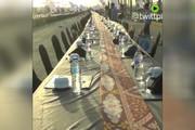 فیلم |  سفره ۳۰۰۰ متری افطار در مصر