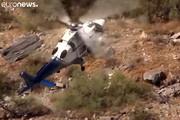 فیلم | عملیات نجات هوایی، پیرزن را تا پای مرگ برد!
