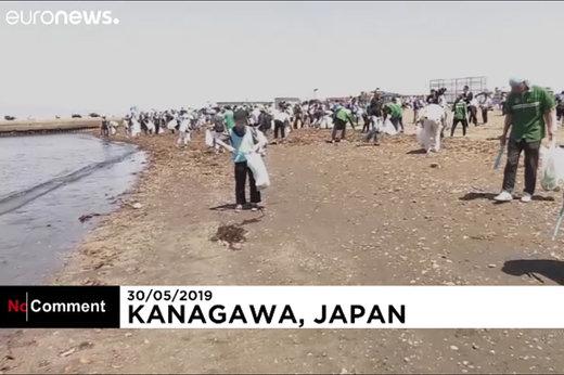 فیلم | نظافت ساحل به سبک ژاپنیها!