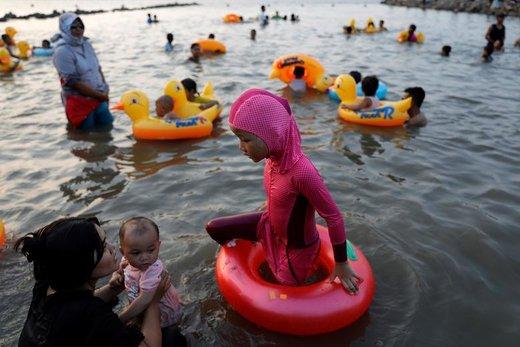 جشن عید فطر در شهر جاکارتا اندونزی