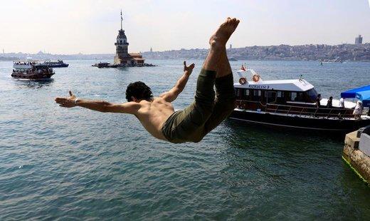 جشن عید فطر در شهر  استانبول ترکیه