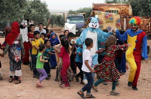جشن عید فطر در حومه شهر ادلب سوریه